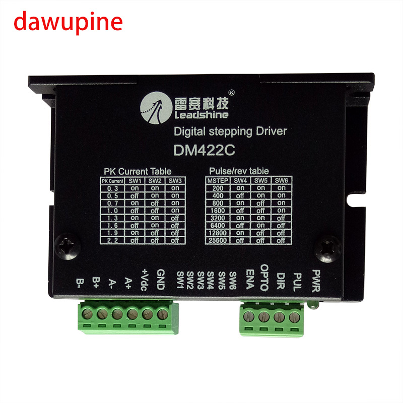 dawupine DM422 Stepper Motor Controller Leadshine 2-phase Digital Nema14 15 17 Driver 12-40 VDC Max. 2.2A 28 35 42 Series Motor leadshine stepper motor driver 3dm 683 3 phase digital stepper drive max 60vac 8 3a