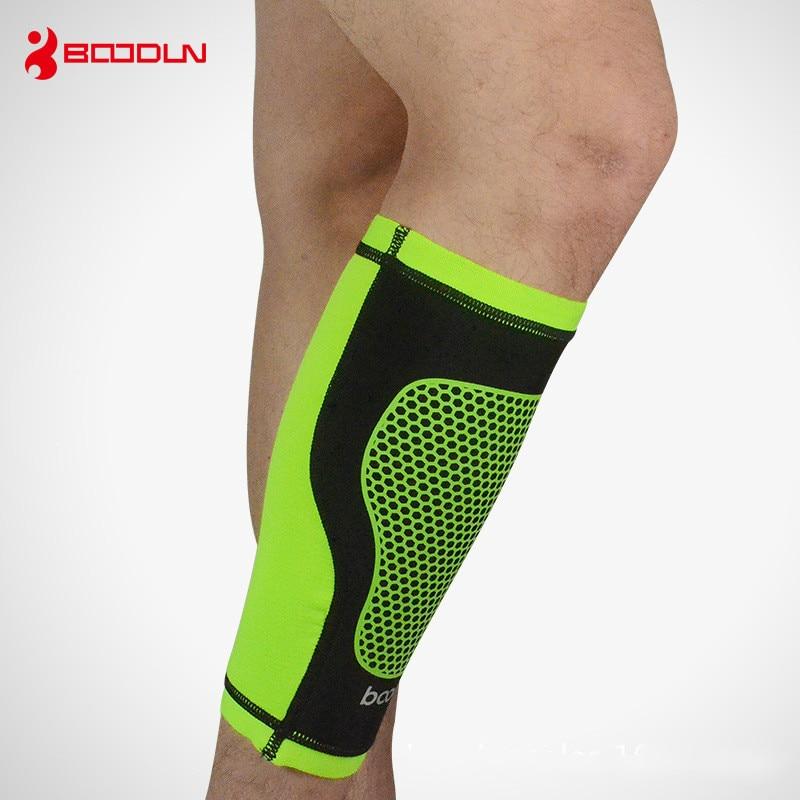 1 Styck Boodun Basket Fotboll Shin Guard Kompression Running - Sportkläder och accessoarer