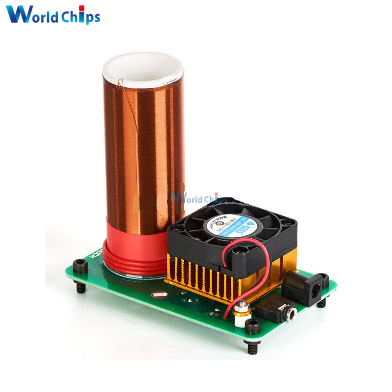 Tesla 20v Heat Sink Fan Mini Wireless Music Musical Coil Loud Speaker Power Magic Module Board Diy Kit Toy Jx03 Under Active Components