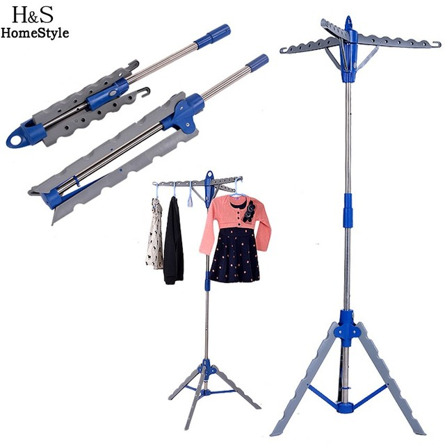 Homdox Garment Clothes Hanger Stand Folding Portable Drying Laundry Indoor Patio Display Tree Rack
