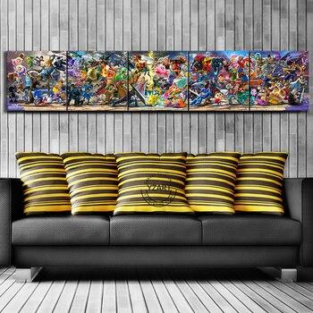 Tableaux 5 pièce Personnages Super Smash Bros Ultimate