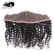 Mocha Волосы бразильские девственные волосы глубокая волна Кружева Фронтальная застежка 13*4 Отбеленный узел человеческие волосы натуральный цвет