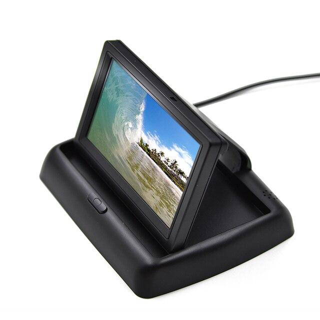 4.3 Polegada Cor TFT LCD Digital HD Painel Do Carro Auto retrovisor Monitor de Estacionamento Backup Veículo Rear View Monitor para Inverter câmeras