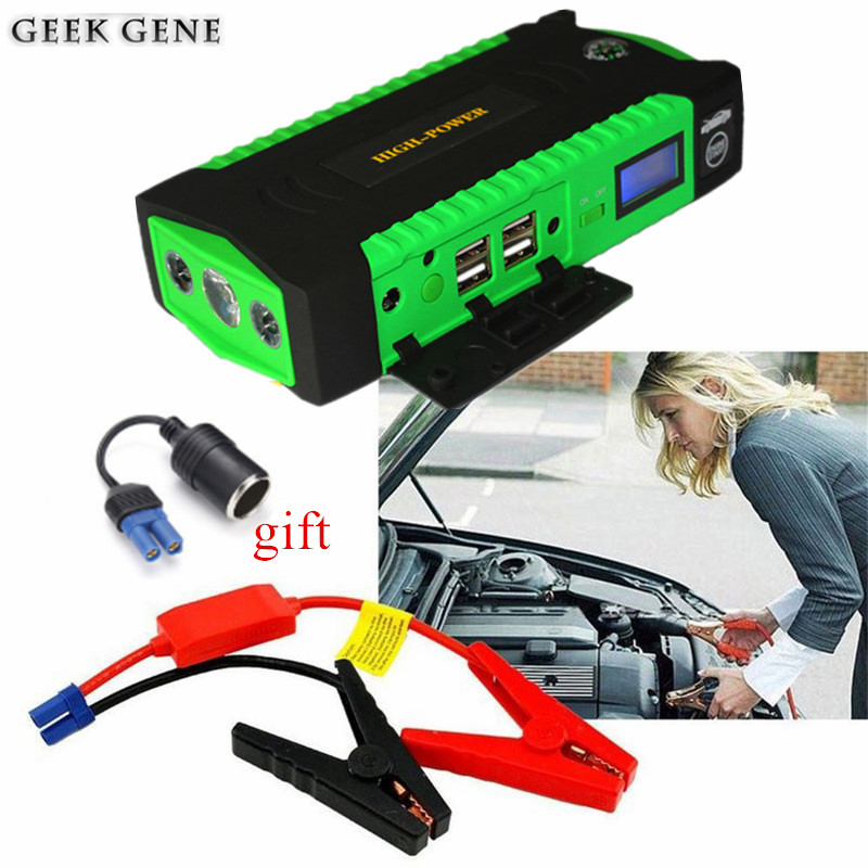 Multifunction Car Jump Starter 600A Power Bank 12V Portable Car Charger For Car Battery Diesel Petrol Booster Starting Device car jump starter 600a portable starting device lighter power bank 12v charger for car battery booster starting petrol diesel ce