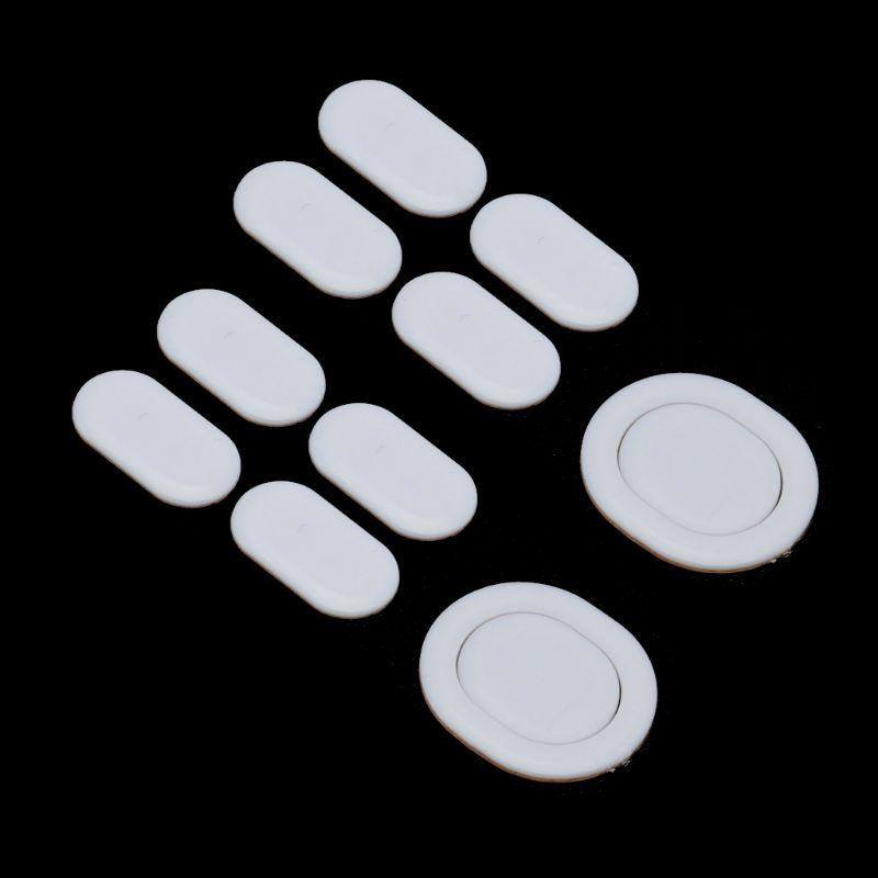 2 Sets/pack Tiger Gaming Mouse Feet Mouse Skate For Logitech G102 G PRO Wireless White Teflon Mouse Glides Curve Edge