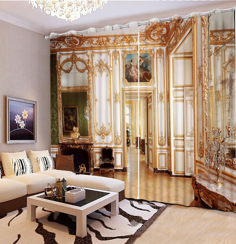 European Curtains Photo Painted 3d Curtain Living Room Bedroom Window Curtain For Home Hotel