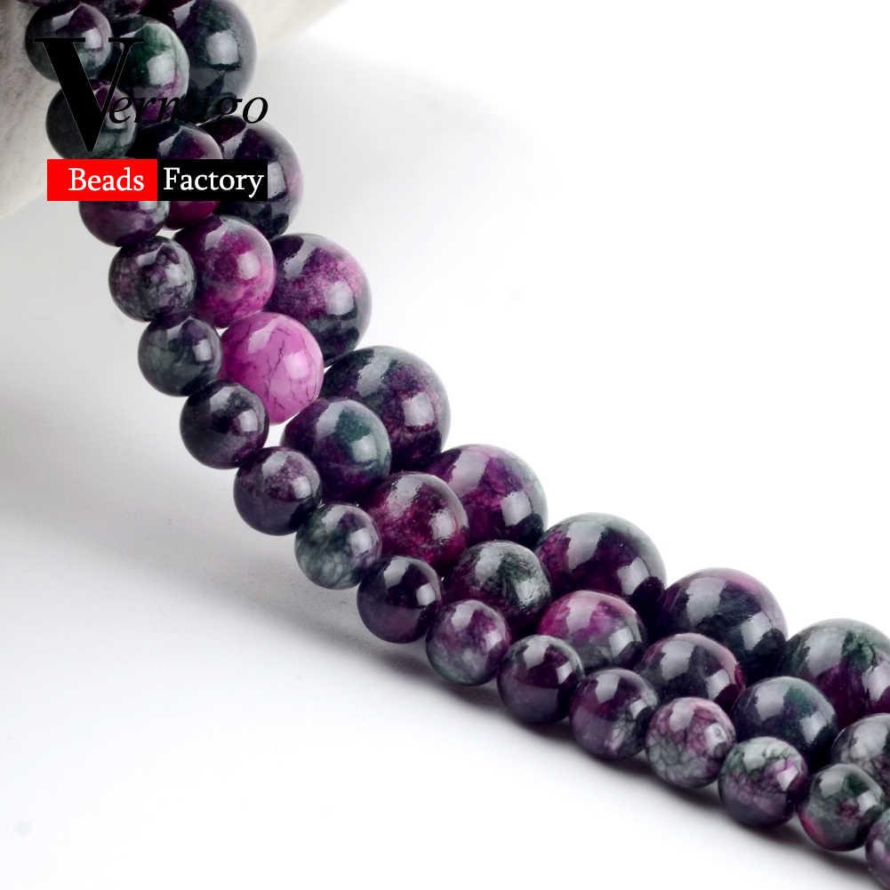 """Turmalin Persische Jade Natürliche Stein Bedas für Schmuck Machen Lose Spacer Runde Perlen Diy Halskette Armband 6mm/8 mm/10mm 15"""""""