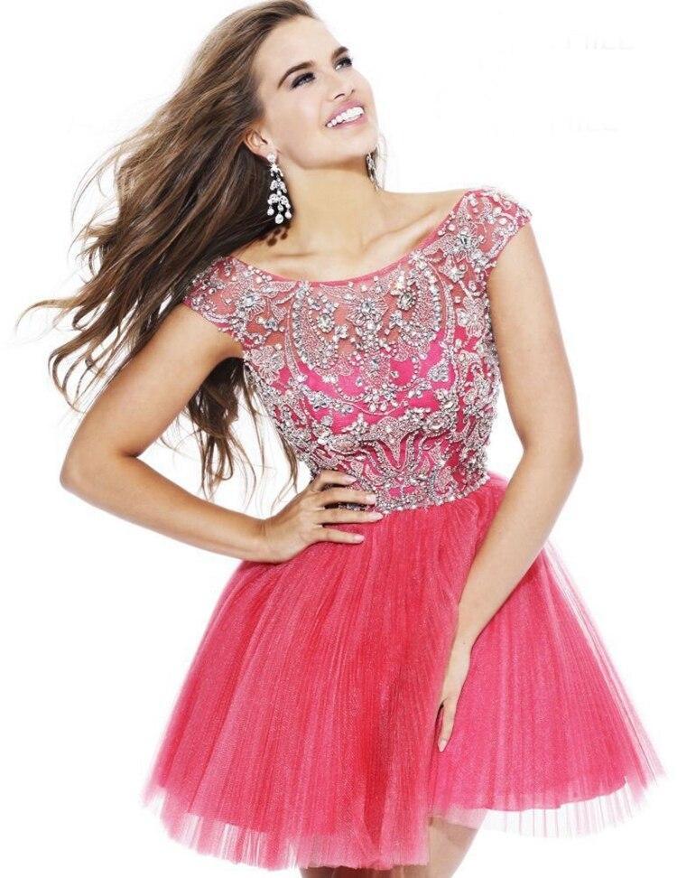 Magnífico Vestido De Fiesta Rojo Dillards Festooning - Ideas de ...