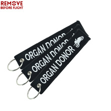 3 PCS Pop Black Key Tag opel Chain Car Ring Embroidery Llavero Moto Organ Donor Keychain Holder for Motorcycles Fans Gift