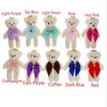 10 pieces / lots bouquets diamond bear plush pendant naked bear plush toys
