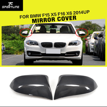 Voiture-Style Remplacement En Fiber De Carbone Side Mirror Cover Caps pour BMW F15 X5 F16 X6 2014UP