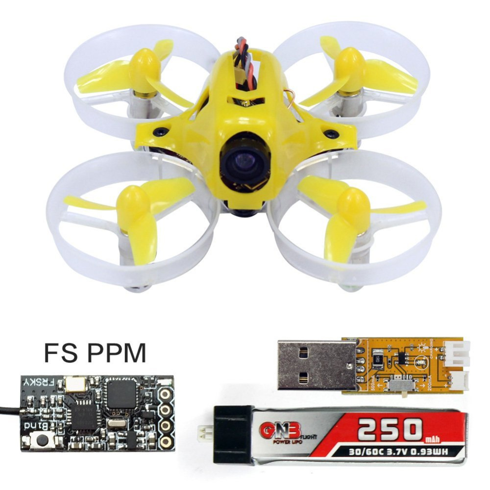 ФОТО Yellow Tiny6 PNP Mini Pocket FPV KingKong  RC Racing Drone 800TVL Camera With FLYSKY PPM Receiver Quadcopter  F20005