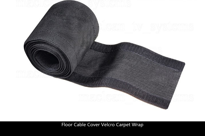 1meter pack strong floor cable cover protection hook carpet wrap 2m x 100 mm black