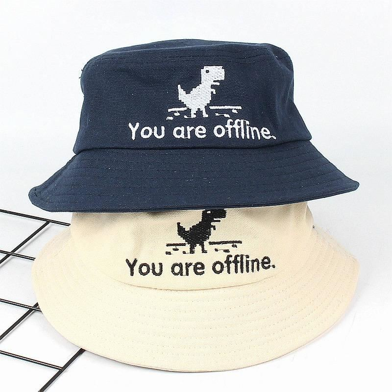 2019 Cotton Letter Embroidery Bucket Hat Fisherman Hat Outdoor Travel Hat Foldable Sun Cap Hats For Men And Women 540
