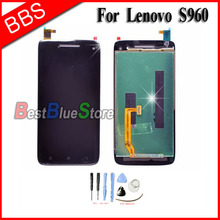 For Lenovo S960 LCD Display Screen With Touch Digitizer Assembly Free shipping high quality replacement lcd display touch digitizer screen assembly complete for lenovo p780 free shipping