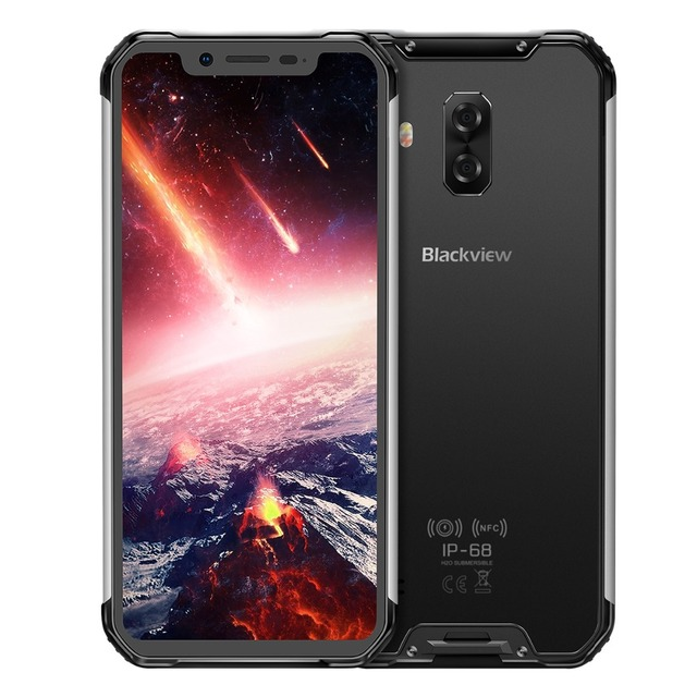 Original Blackview BV9600 Pro IP68 Waterproof Mobile Phone Android 8.1 6GB+128GB Helio P60 Octa Core 5580mAh FHD NFC Smartphone
