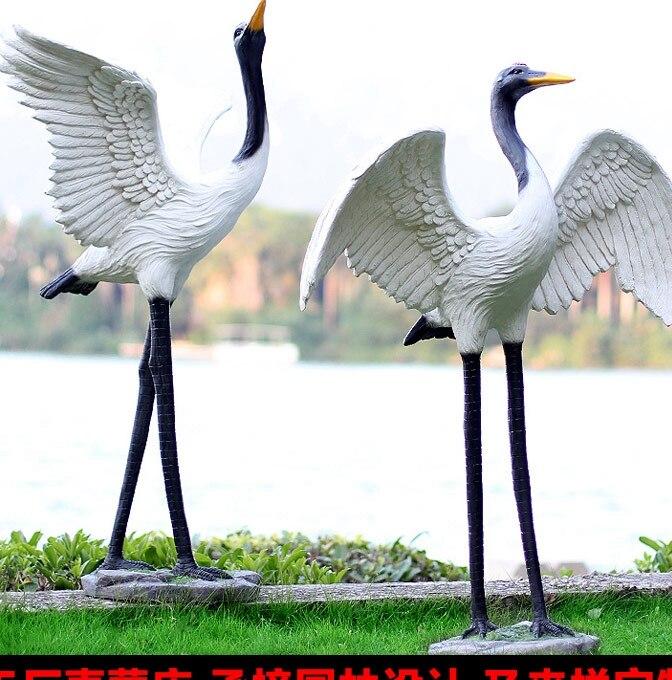 online get cheap crane garden sculpture. Black Bedroom Furniture Sets. Home Design Ideas