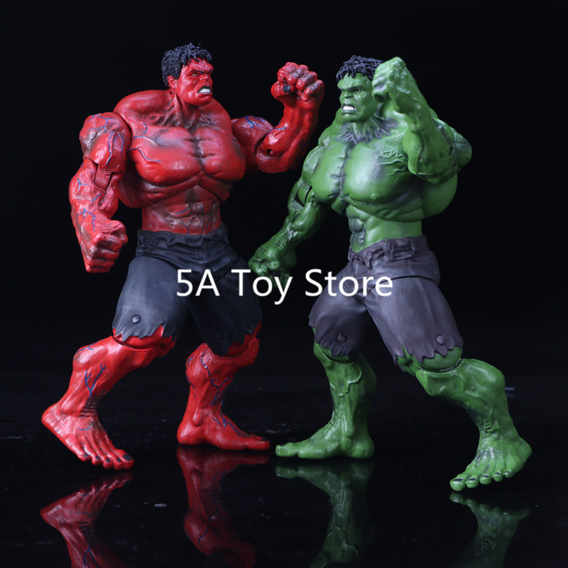 10 26cm Movie The Avengers Red Hulk Green Hulk Action Figure PVC Figure Toy Hands Adjusted Collection Toys