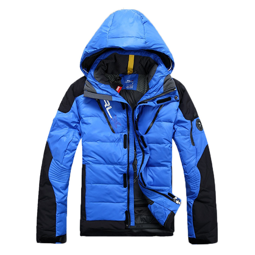 FRPE Men Winter Parka Coat Fleece Hoodie Warm Thicken Quilted Down Jacket