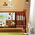 Promoción! 6 unids bordado cuna baby bedding set 100% algodón ropa de cama cuna establece, incluyen ( bumpers + funda nórdica + cama cubre )