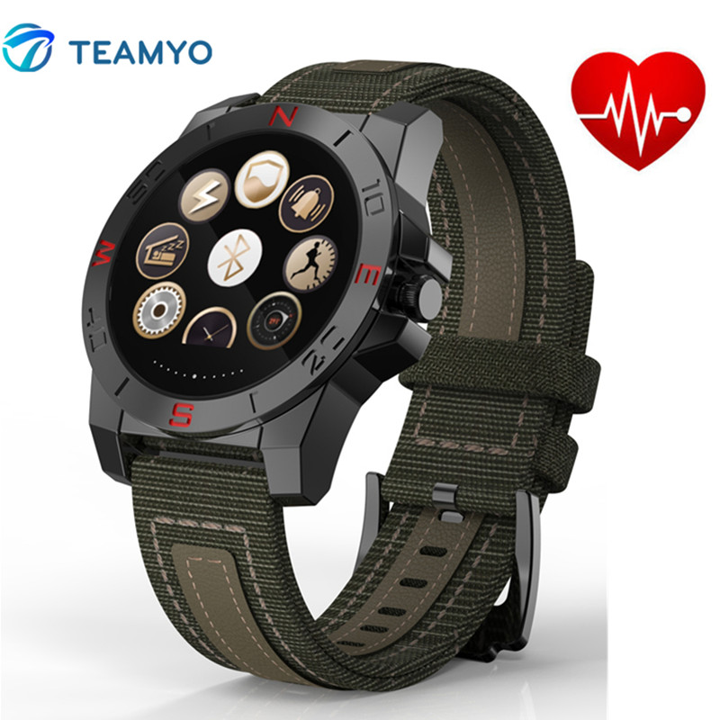 Outdoor Sport Smart Watch N10 With Compass Thermometer Heart Rate Monitor Smartwatch Fitness Tracker Waterproof For Android IOS leegoal bluetooth smart watch heart rate monitor reminder passometer sleep fitness tracker wrist smartwatch for ios android