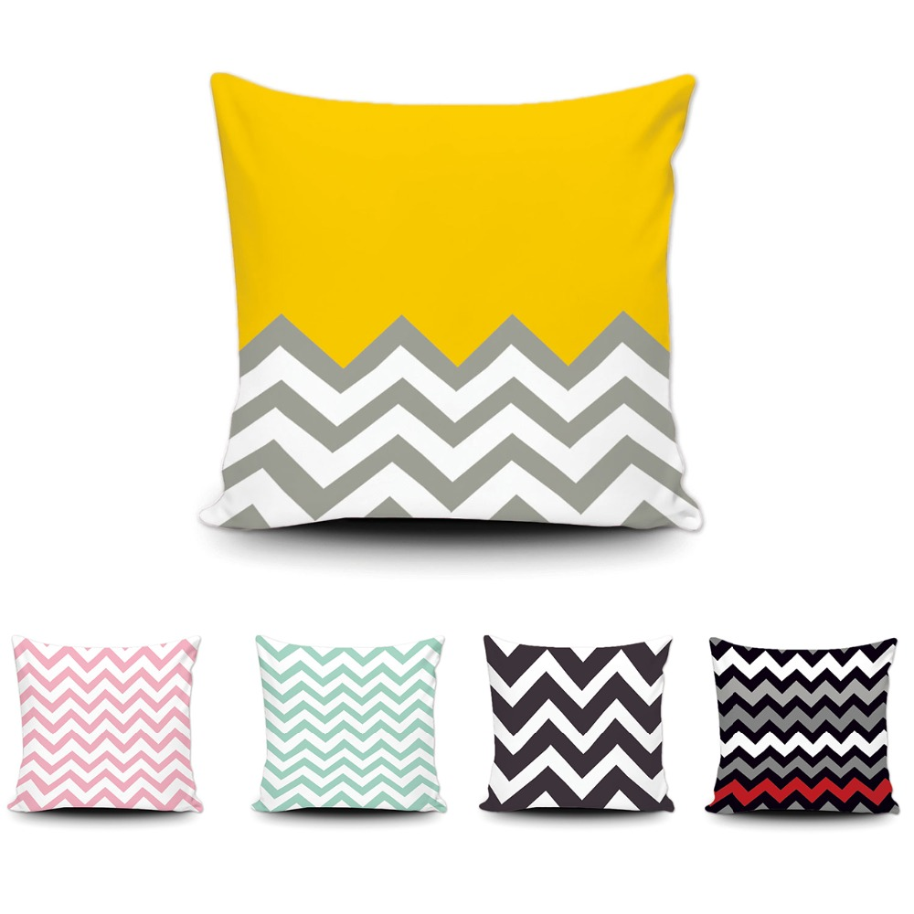 Sensational Us 6 5 Art Abstract Geometric Wave Cushion Cover Vintage Zigzag Stripe Throw Pillow Covers 45X45Cm Cotton Decor Sofa Bed Cushion Covers In Cushion Pdpeps Interior Chair Design Pdpepsorg