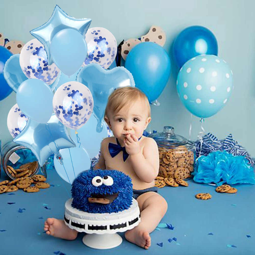 QIFU 3 Year Old Happy Birthday Party Decorations For Kids Girl Blue Boys 3rd