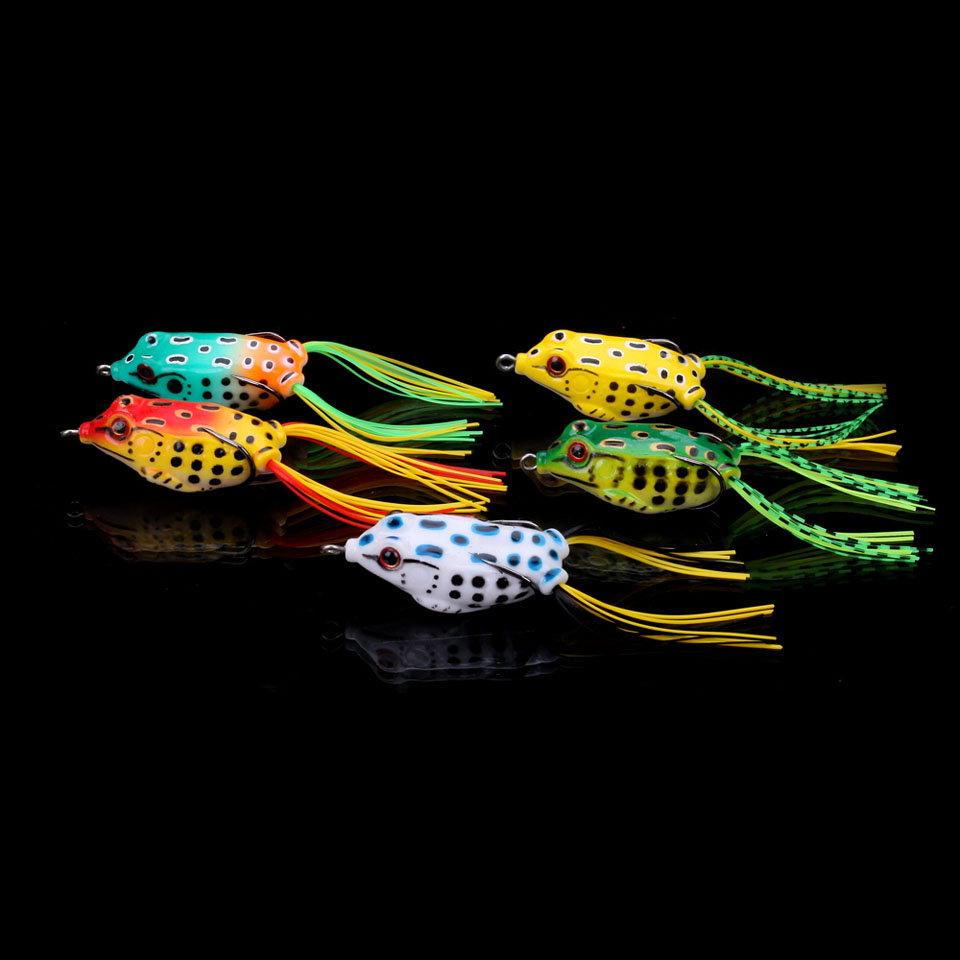WALK FISH 5PCS/Lot 5cm 9.1g Soft frog Plastic Fishing lure Frog lure With Hook Top Water isca Artificial floating Fishing Tackle