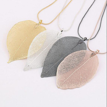 Fashion 1PC Women Charm Leaves Leaf Style Pendant Necklace Long Sweater Chain Jewelry Gift 4 Colors