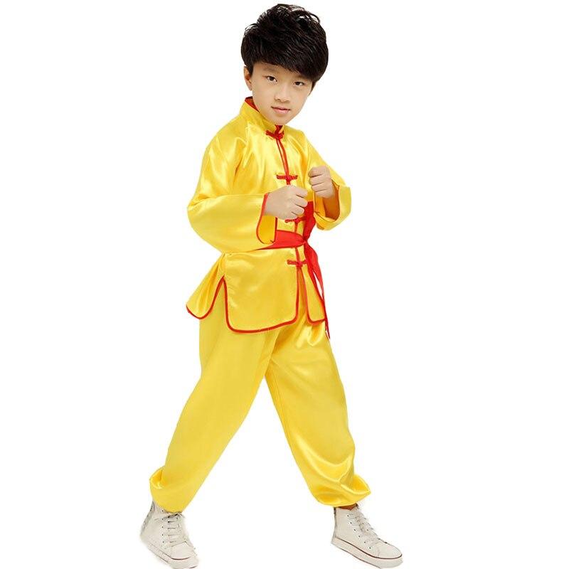 Boy Tae Kwon Do Kids Wushu Boy Chinese Traditional Clothing China Kungfu Suit Kung Fu Uniforms For Boys Girl Kungfu Costumes