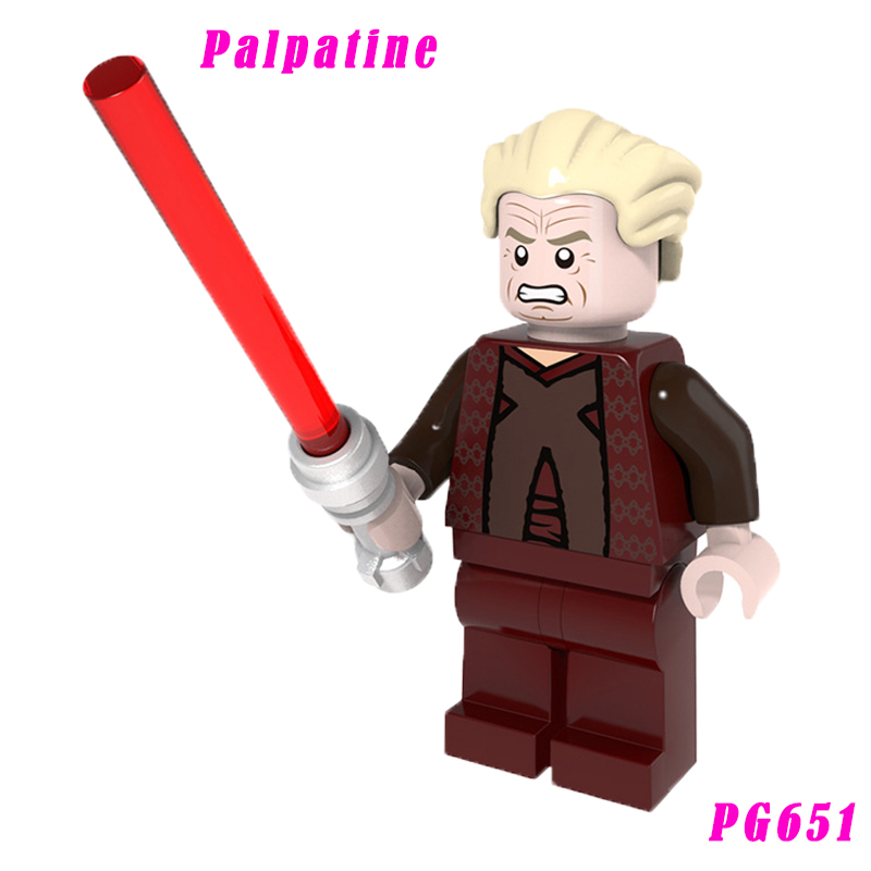 651 Palpatine Mini Bricks The Last Jedi Chancell With Red Lightsaber Single Sale Assembly Building Blocks Toy For Children