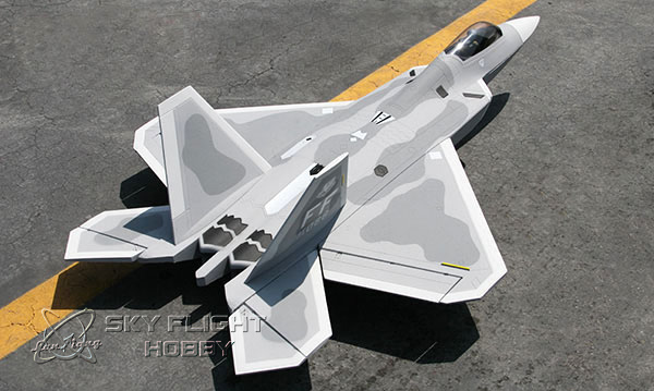 Sky Flight F-22 F22 Raptor 70mm EPO RC EDF Jets LX Model