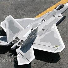 Полет в небе F-22 F22 Raptor 70 мм EPO RC EDF jets LX модель