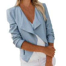 Women Slim Blazer mujer feminino Coat Casual Jacket Long Sleeve One Button Suit Ladies blazer cape veste femme tailleur giacca(China)