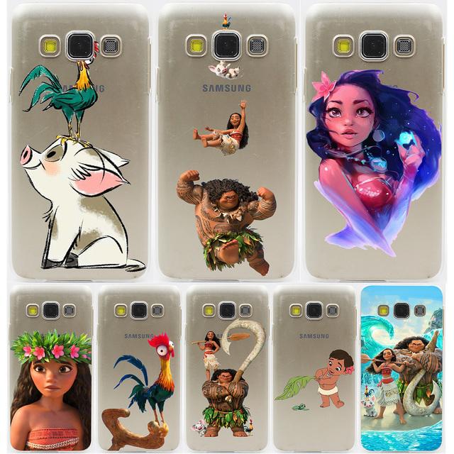 Princess Moana Hard Transparent Case for Galaxy S3 S4 S5 & Mini S6 S7 S8 Edge Plus