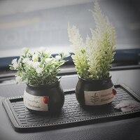 Car Ornaments Creative Simulation Plant Stone Fragrances Decoration Air Freshener Fashion Aromatic Stone Decor With Non