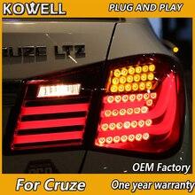 KOWELL автомобильный Стайлинг для Chevrolet Cruze задние фары BMW дизайн 2009-2012- Cruze светодиодный задний светильник задний фонарь DRL+ тормоз+ Парк+ сигнал