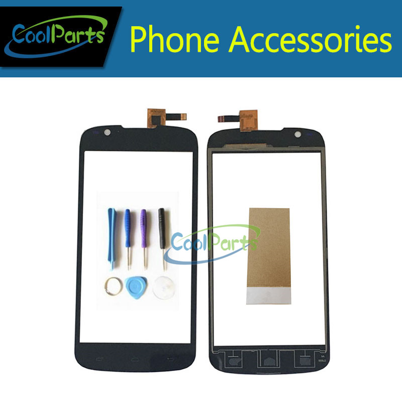 1PC/ Lot High Quality For Fly IQ4413 IQ 4413 Touch Screen Digitizer Touch Glass Panel With Tools &Tape Black Color