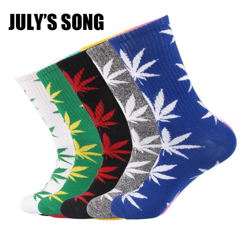 JULYS SONG Weed Happy Socks Men Funny Art Dress Socks Color Lot Happy Socks Women Funny Cute Socks Art Crazy Weed