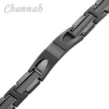 Titanium Bracelet 4-in-1 Magnetic with Carbon Fiber Inlay