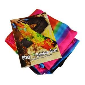 Image 4 - เปลี่ยนสีผ้าพันคอMagic TricksสีดำถึงRainbowผ้าไหมStreame Magic Tricks Magia PropsตลกเวทีClose Up Magieของเล่น