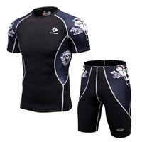 New Man's Compression Sets Breathable MMA Ra ...