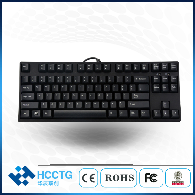 87 Keys Cheap USB Professional Mechanical Electronic Keyboard Gaming HGK87 image
