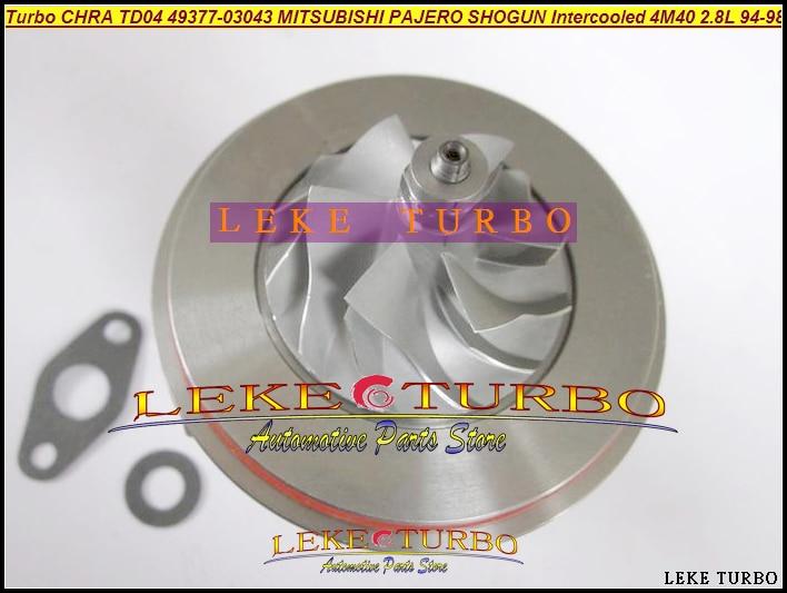 Turbo Cartridge CHRA Core TD04 49377-03043 ME201636 Turbocharger For MITSUBISHI PAJERO SHOGUN Intercooled 1994- 4M40T 4M40 2.8L цены