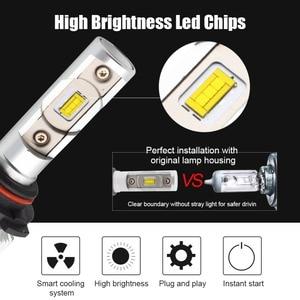 Image 4 - H4 Hi Lo Beam H7 H8 H9 H11 9005 9006 HB3 HB4 LED Car Headlight Bulbs Conversion Kit 70W 6000lm CSP Chips 6000K Auto Headlamp 12V