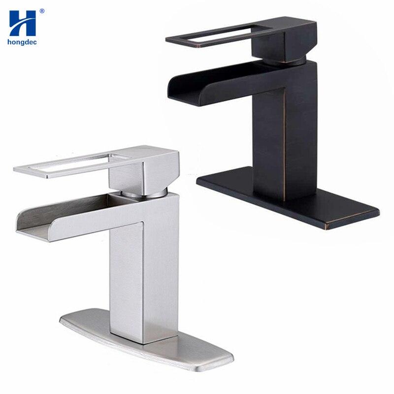 Hongdec 304 robinet de lavabo en acier inoxydable pour salle de bain