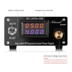 Image 3 - Nobsound 25W Adjustable DC Regulated Linear Power Supply With USB 5V and DC 5V 24V Output For Audio DAC/Digital Players