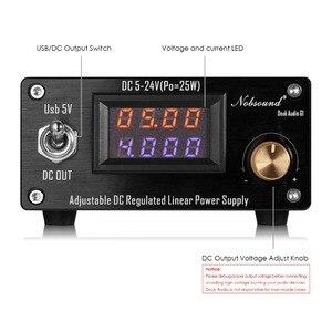 Image 3 - Nobsound 25W ayarlanabilir DC regüle lineer güç kaynağı ile USB 5V ve DC 5 V 24 V çıkış ses DAC/dijital oyuncu