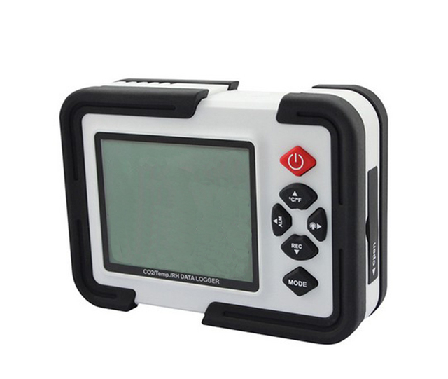 HT-2000 Digital CO2 Monitor CO2 Meter Gas Analyzer detector 9999ppm CO2 Analyzers With Temperature and Humidity Test