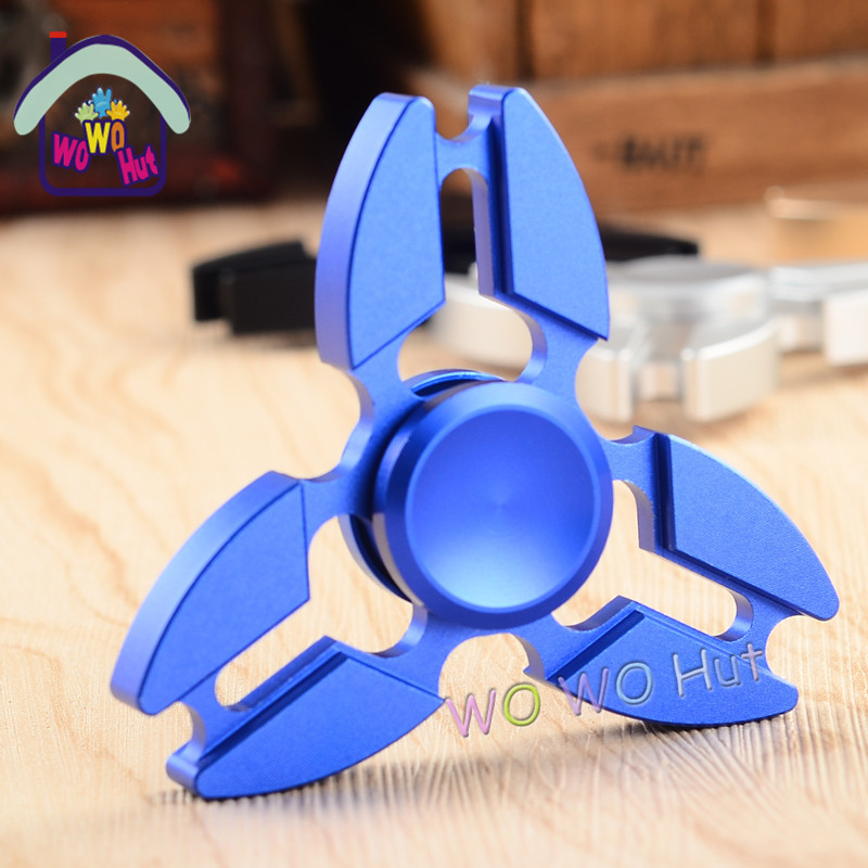 Tri Spinner Fidget Toy Brushed plating aluminum alloy EDC Hand Spinner For Autism and Rotation Time